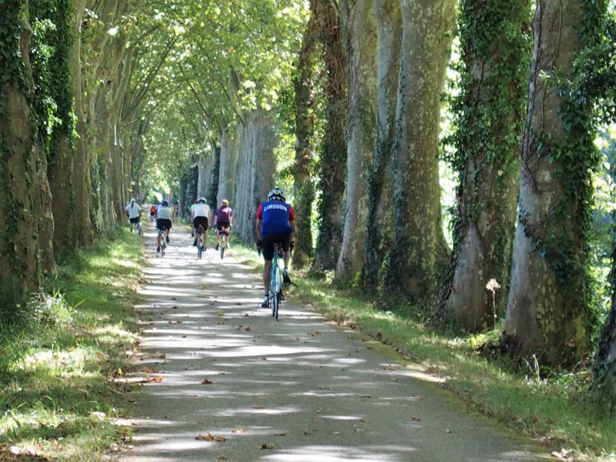 Compte tenu des conditions météos (souvent 34-35° l'aprés-midi) les parcours le long du canal étaient bienvenus.